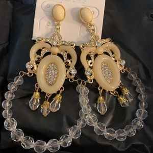 Chandelier Earrings with transparent designs